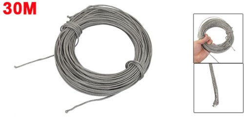 uxcell 2.5mm Width 30M Length K-Type Coiled Thermocouple