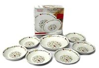 7 Piece Italian Style Pasta Bowl Set -with serving pasta ...