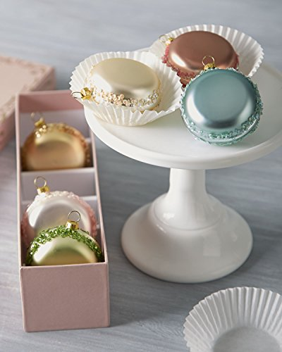 Glass French Macaron Christmas Ornaments
