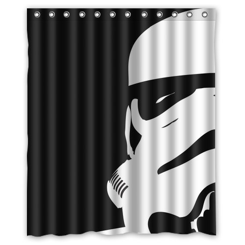 Star Wars Decor Items: star wars shower curtain