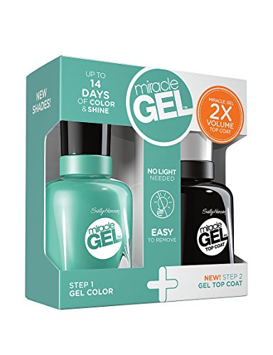 Sally Hansen Miracle Gel Geo-Mint-Ric and Top Coat Polish Set
