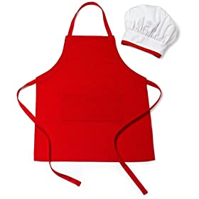 This chef-dress up outfit is pretty inexpensive.  It retails for $14.99 from Amazon.