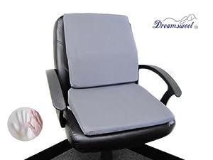 posture pack seat wedge navy velvet chair amazon.com: memory foam cushion + lumbar back support set (2 items ...