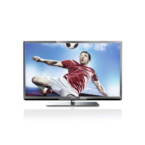 Philips 40PFL5007K/12 102 cm (40 Zoll) LED-Backlight-Fernseher, Energieeffizienzklasse A+ (Full-HD, 400Hz PMR, DVB-C/T/S, CI+, Smart TV Plus, WiFi, USB Recording) silber schwarz gebürstet