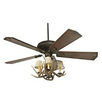 Coues Deer Antler Ceiling Fan with 4 Lights - - Amazon.com