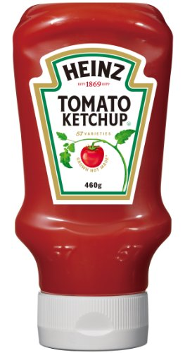 ハインツ トマトケチャップ逆さボトル 460g×4本