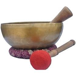 """8""""Amazing Solar Plexus Chakra Tibetan Singing Bowl-Handmade singing bowl , Singing bowl from Nepal,meditation bowls."""