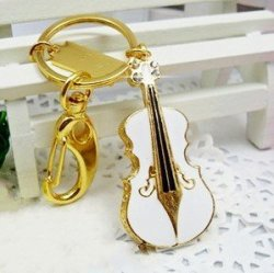 New Style 8GB Small White Violin Style USB Flash Drive