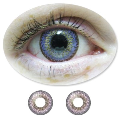 Farbige Kontaktlinsen Monatslinsen Fun ColorNova Violet /Lilane /Violette ohne Stärken / Dioptrien