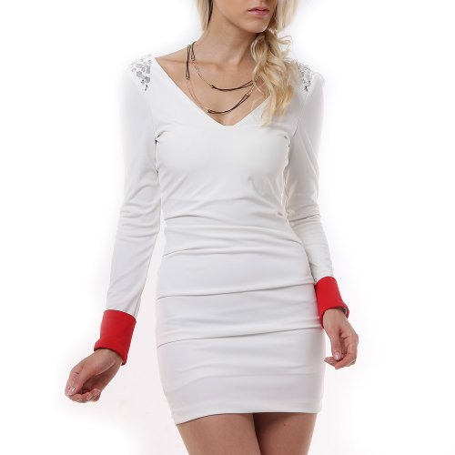 Damen Sexy Mini-kleid Langarm (DW6)
