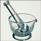 Footed Glass Mortar & Pestle Set: (2 Oz)
