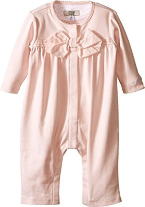 Armani-Junior-Baby-Girls-One-Piece-with-Bow-Infant-Orchid-Baby-One-Piece-9-Months