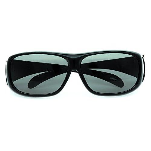 コールマン メガネの上から掛けられるオーバーサングラス 偏光レンズ ブラック CO3012-1