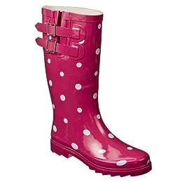 Product Image Women's Merona® Zaney Polka Dot Rain Boots - Pink