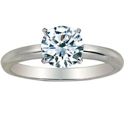 1-12-Carat-Round-Cut-Diamond-Solitaire-Engagement-Ring-14K-White-Gold-4-Prong-K-I1-15-ctw-Ideal-Cut