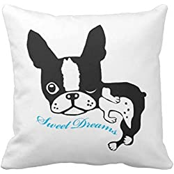 Mirabelle The Boston Terrier Sweet Dreams R2abd44309ab44b7c8e29af598360d460 I5f0b 8byvr Pillow Case