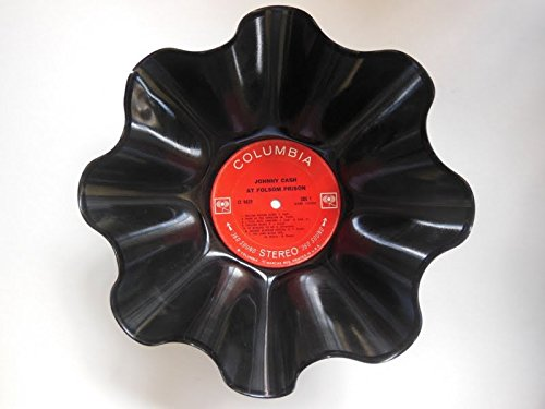 Johnny Cash Vinyl Record Bowl - Handmade Using An Original Johnny Cash Record