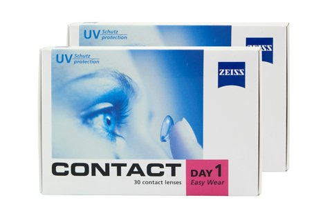 Contact Day 1 Easy Wear - 2x30er Box (Dioptrien: -6,00 / Basiskurve: 8,60 / Durchmesser: 14,20)