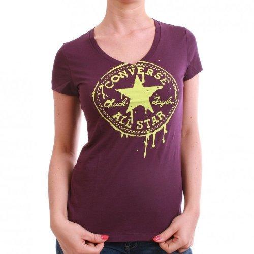 Converse T-Shirt Women – NEON CHUCK 03244C – Plum Purple
