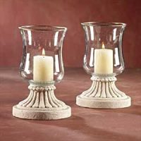 Amazon.com : Glass Hurricane Candle Holders : Everything Else