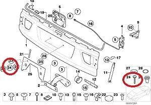 Amazon.com: 2 x BMW Genuine Trunk / License Plate Screw