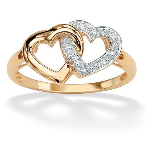 PalmBeach Jewelry 18K Gold Over Sterling Silver Diamond
