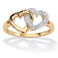 PalmBeach Jewelry 18K Gold Over Sterling Silver Diamond ...