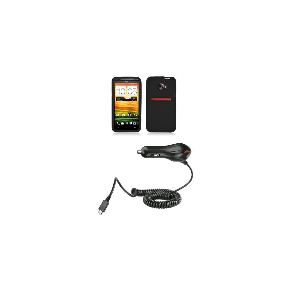 HTC EVO 4G LTE (Sprint) Premium Combo Pack Black Silicone