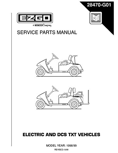 EZGO 28470G01 1998-1999 Service Parts Manual for TXT