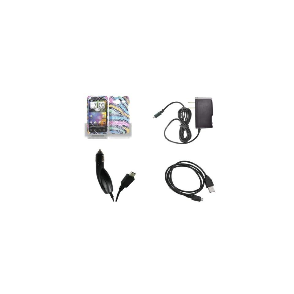 HTC EVO Shift 4G (Sprint) Premium Combo Pack Rainbow Zebra