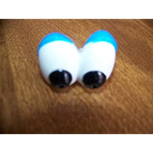 Mr Mrs Potato Head Eyes with blue eye lids - Replacement Part