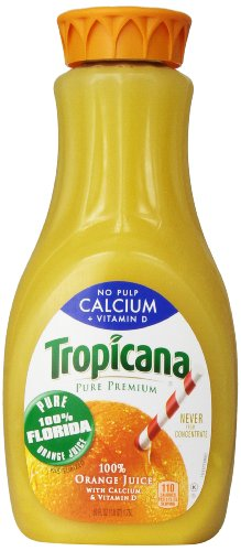 Tropicana Orange Juice with Calcium Vitamin D No Pulp