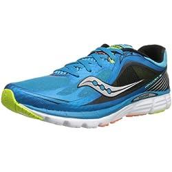 Saucony Men's Kinvara 5 Running Shoe,Blue/Black/Citron,8.5 M US