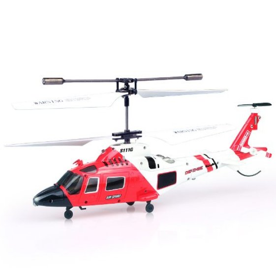 Remote control coast guard helicopter