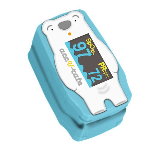 Acc U Rate® children digital finger pulse oximeter with adorable animal theme (Polar Bear)