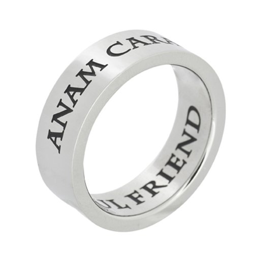 Stainless Steel Anam Cara Soul Friend Poesy Ring