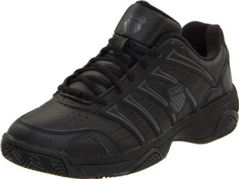K-Swiss Men's Grancourt II Tennis Shoe,Black/Castle Gray,9.5 XW US