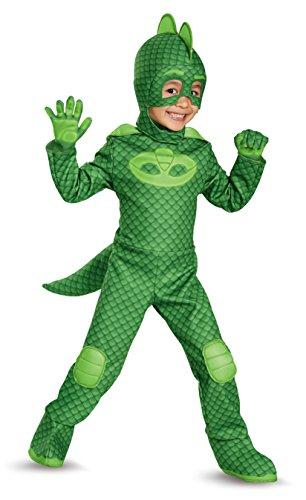 Disguise Gekko Deluxe Toddler PJ Masks Costume, Large/4-6
