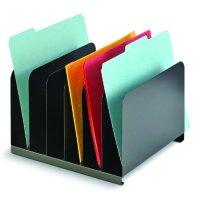Vertical Desktop File Organizer 6 Compartment Steel ...
