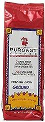 Puroast Low Acid Coffee Mocha Java Flavored Coffee Drip Grind, 0.75 Pound Bag
