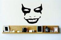 Amazon.com - Evil Scary Smiling Joker Face Mask Vinyl Wall ...