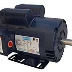 Leeson Electric Wiring Diagram 1967 Chevy Ii Amazon.com: 5hp 3450rpm 145t 230v Replacement Air Compressor Motor ...