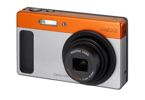 Pentax Optio H90 12.1 MP Digital Camera with 5x Wide Angle Optical Zoom and 2.7-Inch LCD (Silver)