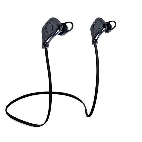 iHOVEN Bluetooth4.0 スポーツヘッドセット ワイヤレス ステレオ イヤホン シェア掛けタイプ ヘッドフォン 生活防水防汗 マイク内蔵 ハンズフリー CVC6.0ノイズキャンセル搭載 iPhone&Android などのスマートフォンに対応 スポーツイヤフォン 高音質 ブラック
