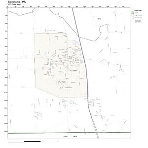 Amazon.com: ZIP Code Wall Map of Senatobia, MS ZIP Code