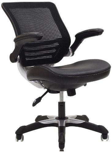 lexmod focus edge desk chair little tikes chunky chairs office with mesh back and black leatherette seat click here now for details keywords used