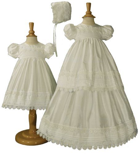 62808ebe4 Girls Silk Convertible Christening Baptism Gown Set, 03 | Baby Girl ...