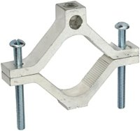 """Aluminum Ground Clamp, 2-1/2"""" - 4"""" Water Pipe Size, 250 ..."""