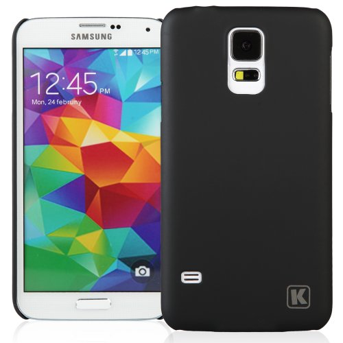 KAYSCASE Slim Hard Shell Cover Case for Samsung Galaxy S5 Smart Phone (Lifetime Warranty) (Black)