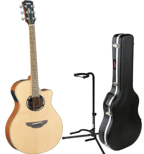 price yamaha apx500ii natural acoustic electric guitar w skb3 thinline hardshell case on. Black Bedroom Furniture Sets. Home Design Ideas